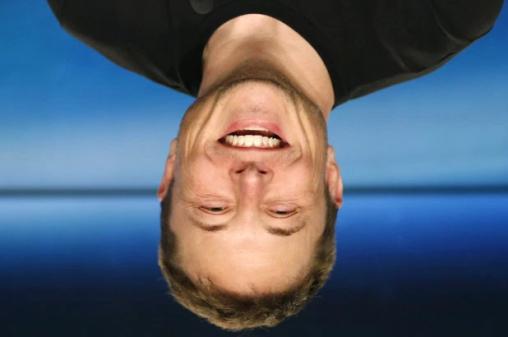 elon musk upside down 2
