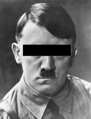 hitler eyes covered