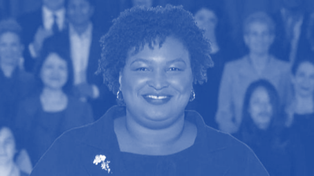 stacey abrams blue
