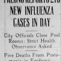 Dispatches from Fresno, 1918-19: Following the 'Spanish' Flu Pandemic in Real Time, Part IV